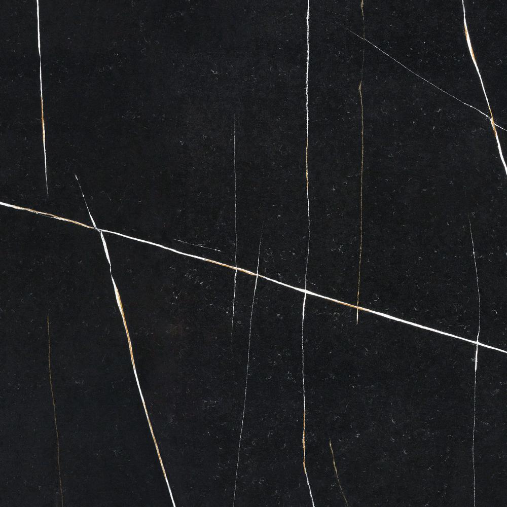 4 in. x 8 in. Quartz Countertop Sample in Eternal Noir Suede
