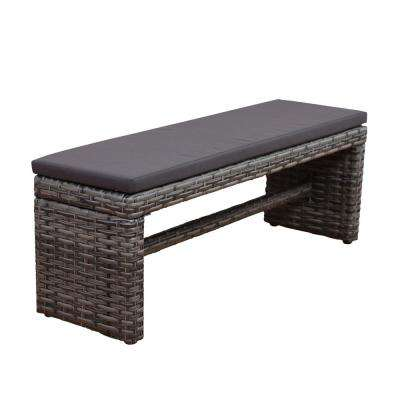 Genial Atlantic Mustang 2 Seater With Synthetic Wicker Grey And Cushions