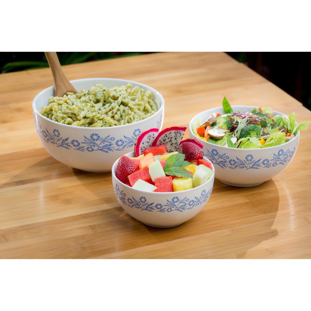 Cornflower 3-Piece Ceramic Mixing Bowl Set