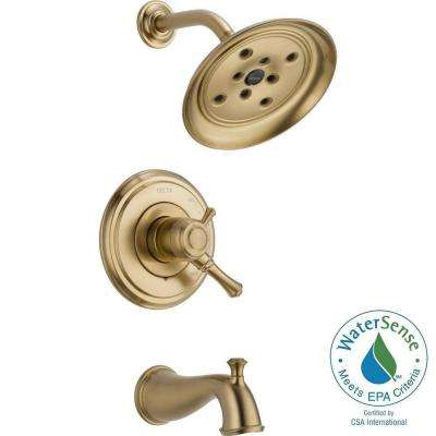 Cassidy 1-Handle H2Okinetic Tub and Shower Faucet Trim Kit Only in Champagne Bronze (Valve Not Included)