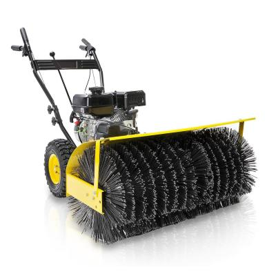 Stark 46 in. x 29.1 in. 7 HP Walk Behind EPA Motor Gas-Powered Engine Snow Sweeper w/ Adjustable Angle Bristle Brush