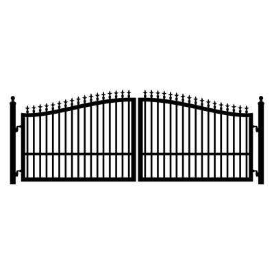 St. Augustine 12 ft. W x 5 ft. H Powder Coated Steel Dual Driveway Fence Gate
