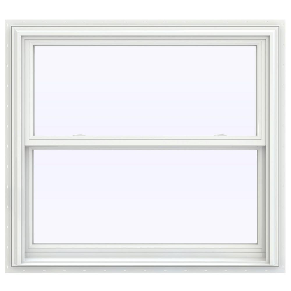 Jeld wen 39 5 in x 35 5 in v 2500 series double hung for Double hung window reviews