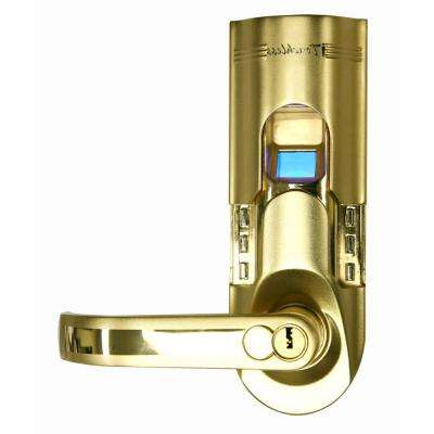 Bio-Matic Fingerprint Gold Left Handle Door Lock