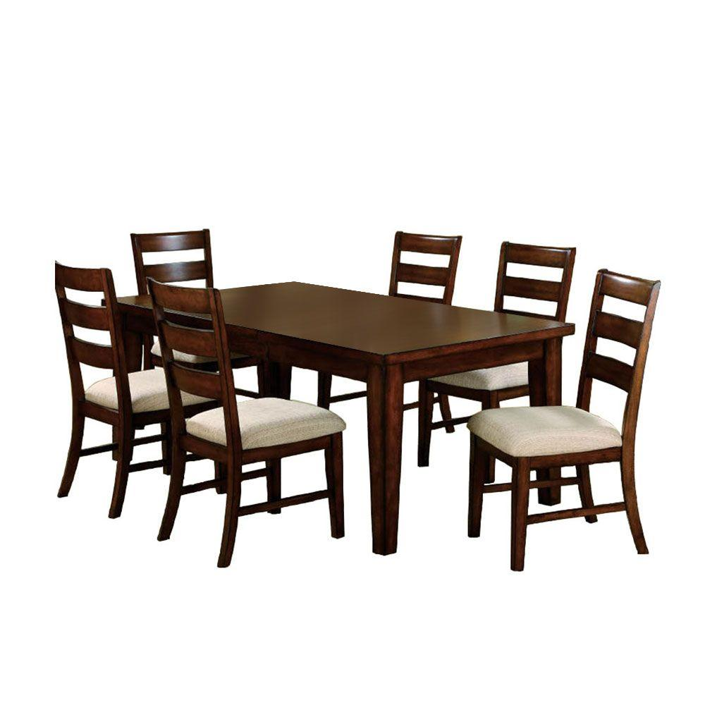 Venetian worldwide priscilla i 7 piece antique oak dining for 7 piece dining set