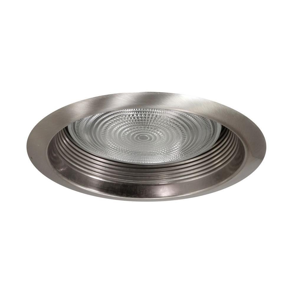 NICOR 6 in. Nickel Recessed Airtight Cone Baffle Trim