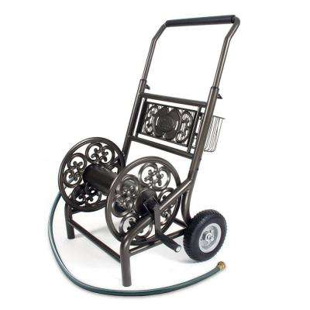 Decorative 2 Wheel Hose Cart