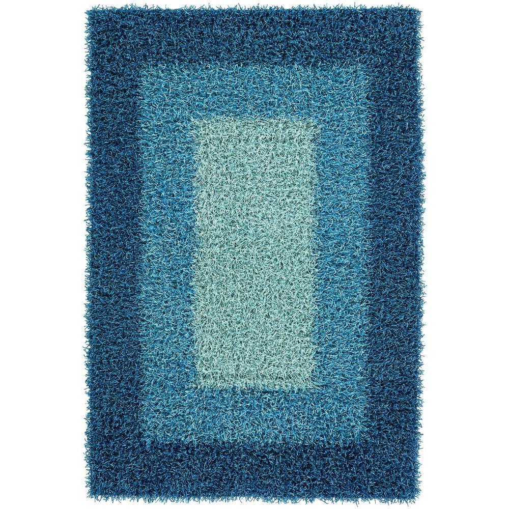 Chandra Paramera Blue 9 ft. x 13 ft. Indoor Area Rug