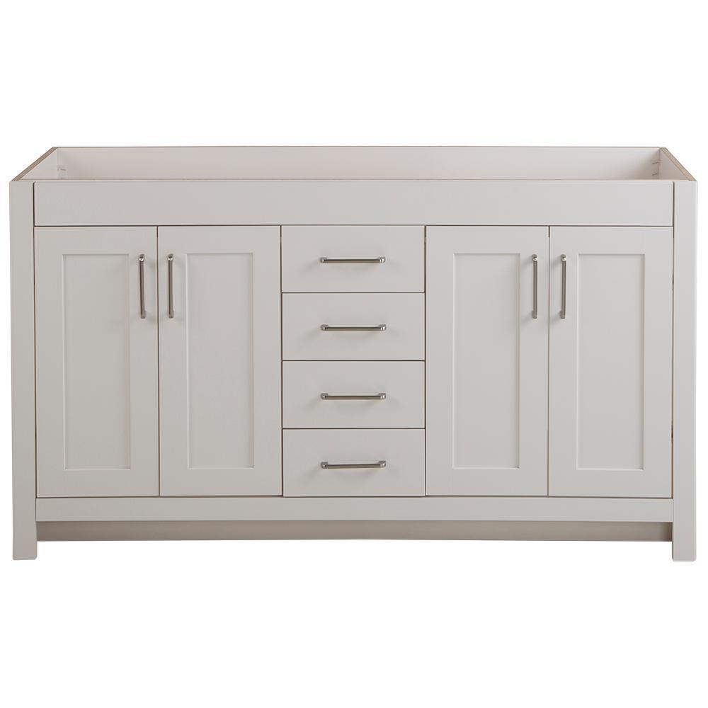 Westcourt 60 in. W x 21 in. D x 34 in. H Bath Vanity Cabinet Only in Cream