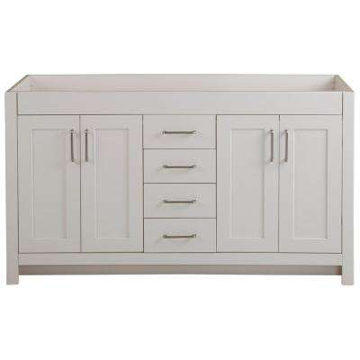 Westcourt 60 in. W x 21 in. D x 34 in. H Bath Vanity Cabinet Only in Cream