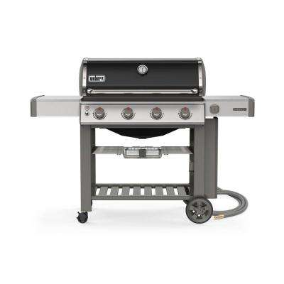 Genesis II E-410 4-Burner Natural Gas Grill in Black with Built-In Thermometer