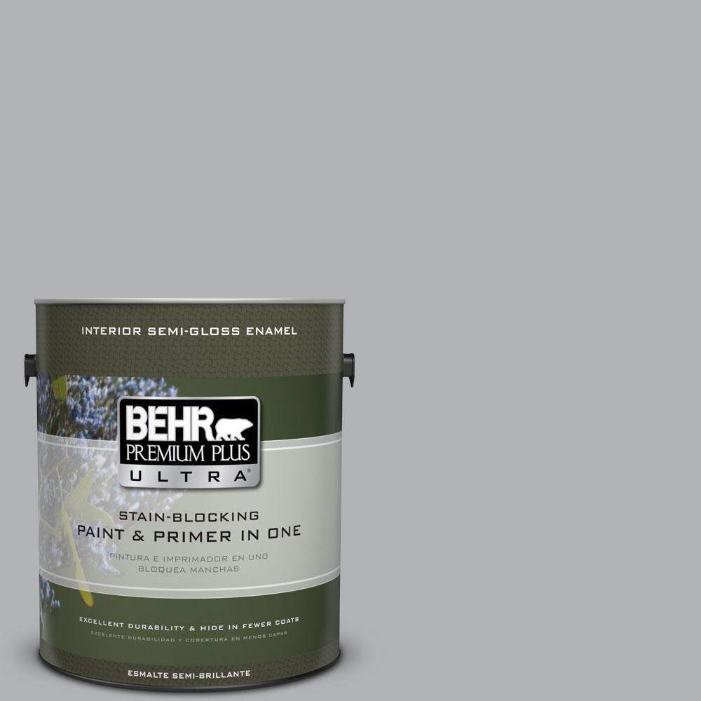 BEHR Premium Plus Ultra 1-gal. #770E-3 Pewter Mug Semi-Gloss Enamel Interior Paint
