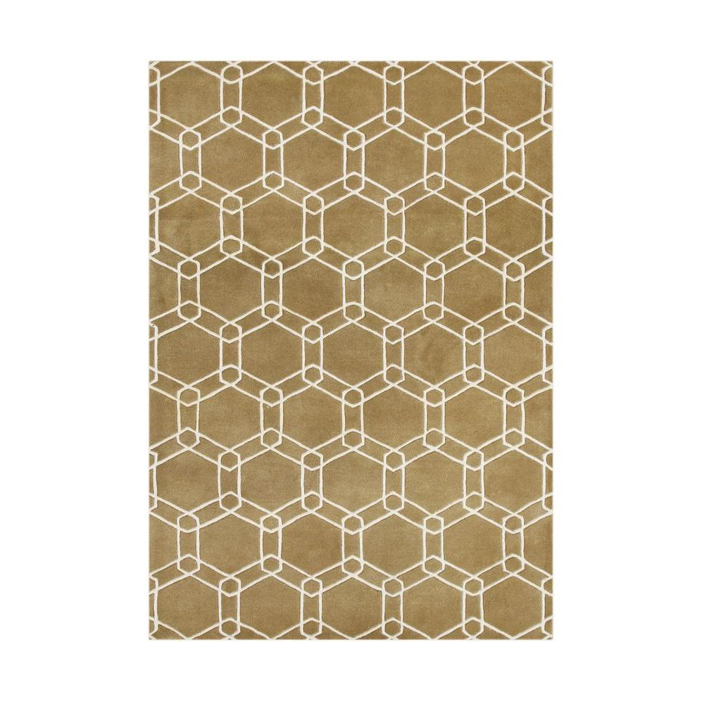 Bright Gold 5 ft. x 8 ft. Handmade Area Rug