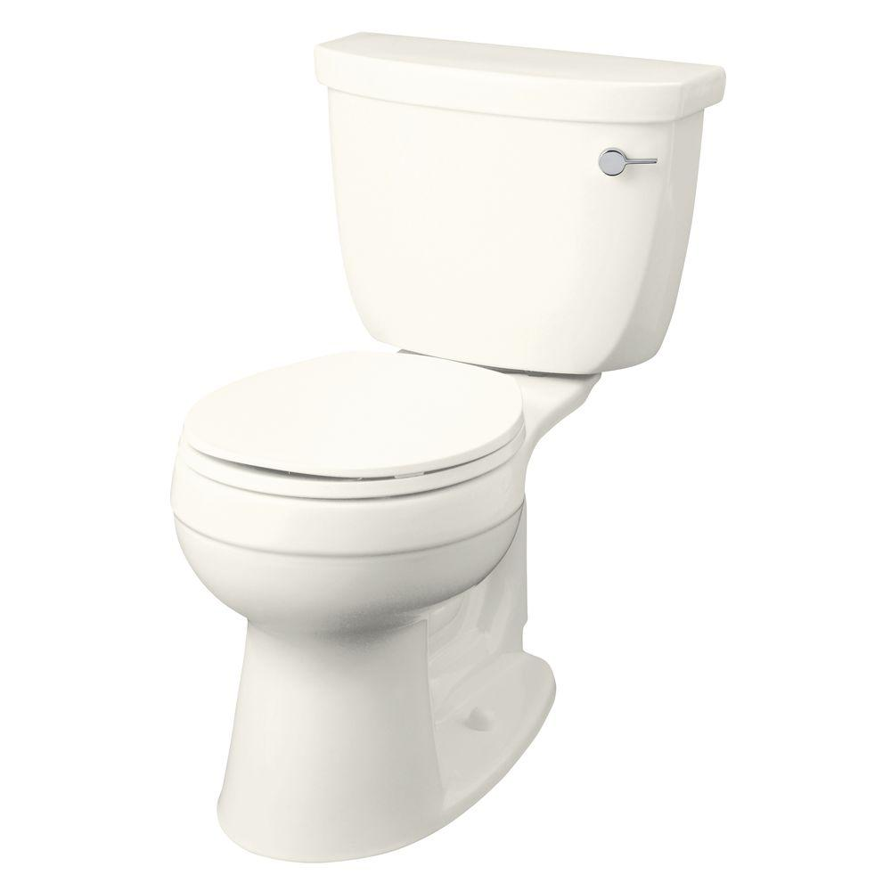 KOHLER Cimarron Comfort Height 2-Piece 1.6 GPF Round Front Toilet Less Seat in Biscuit-DISCONTINUED