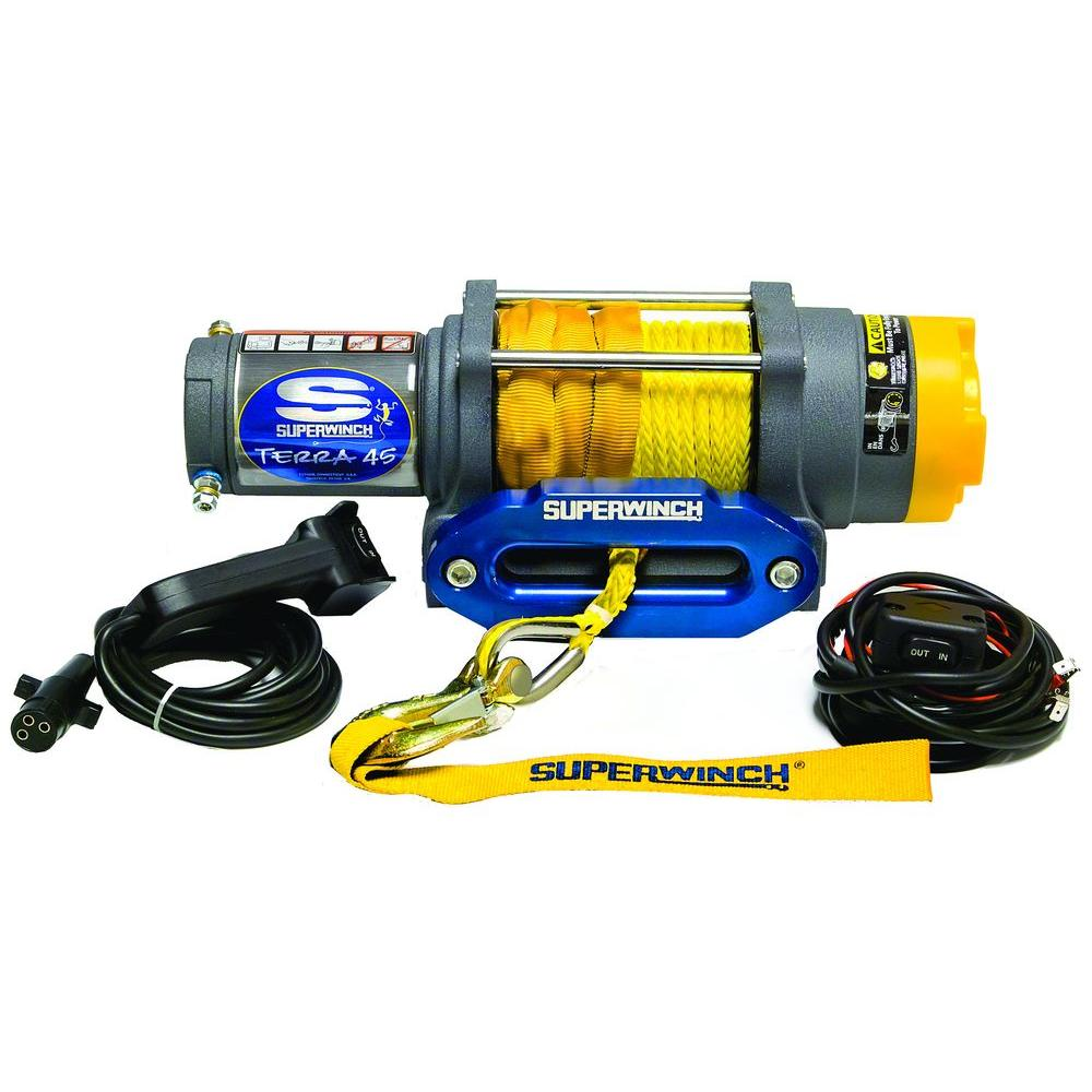 Superwinch Terra Series 45SR 12-Volt ATV Winch with Hawse Fairlead and  Synthetic Rope