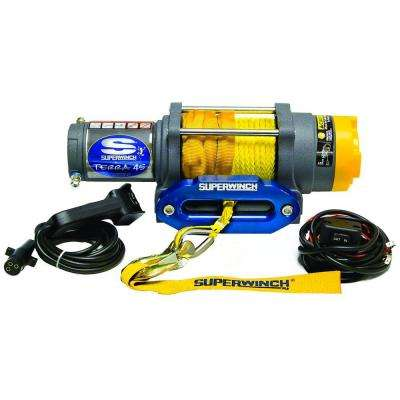 Terra Series 45SR 12-Volt ATV Winch with Hawse Fairlead and Synthetic Rope