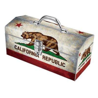 16 in. California Flag Art Tool Box