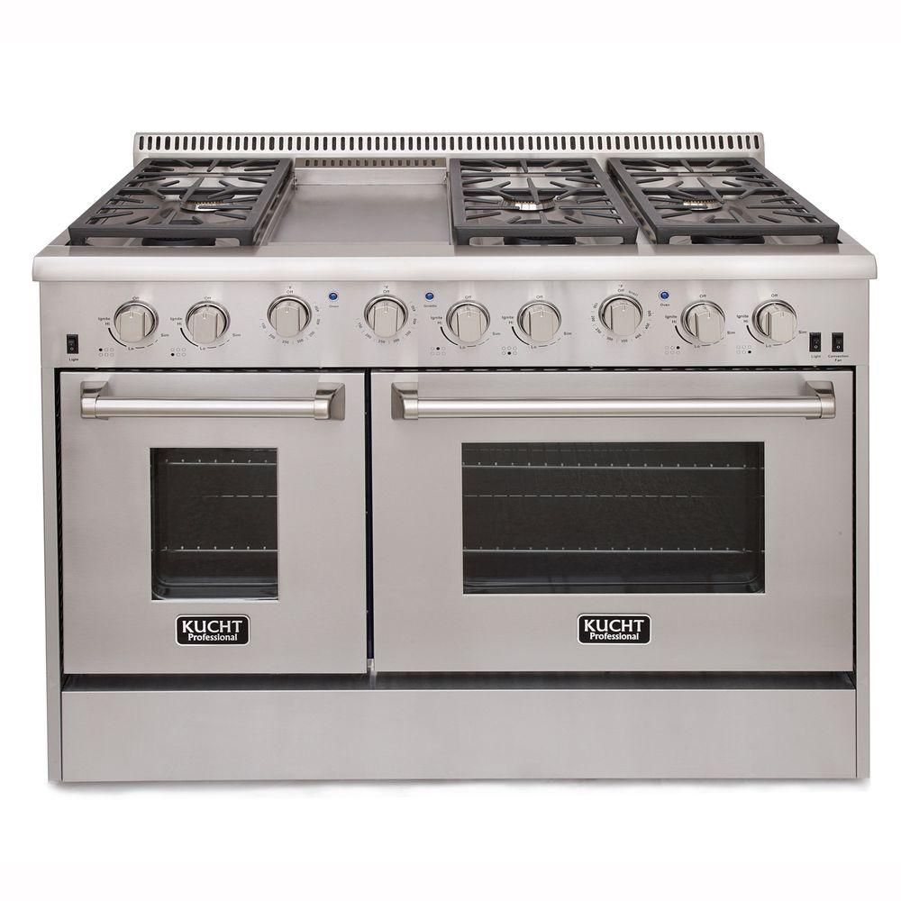 Kucht ProStyle 48 in 67 cu ft Natural Gas Range with Sealed