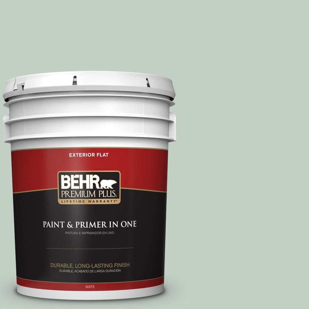 5 gal. #PPU11-13 Frosted Jade Flat Exterior Paint