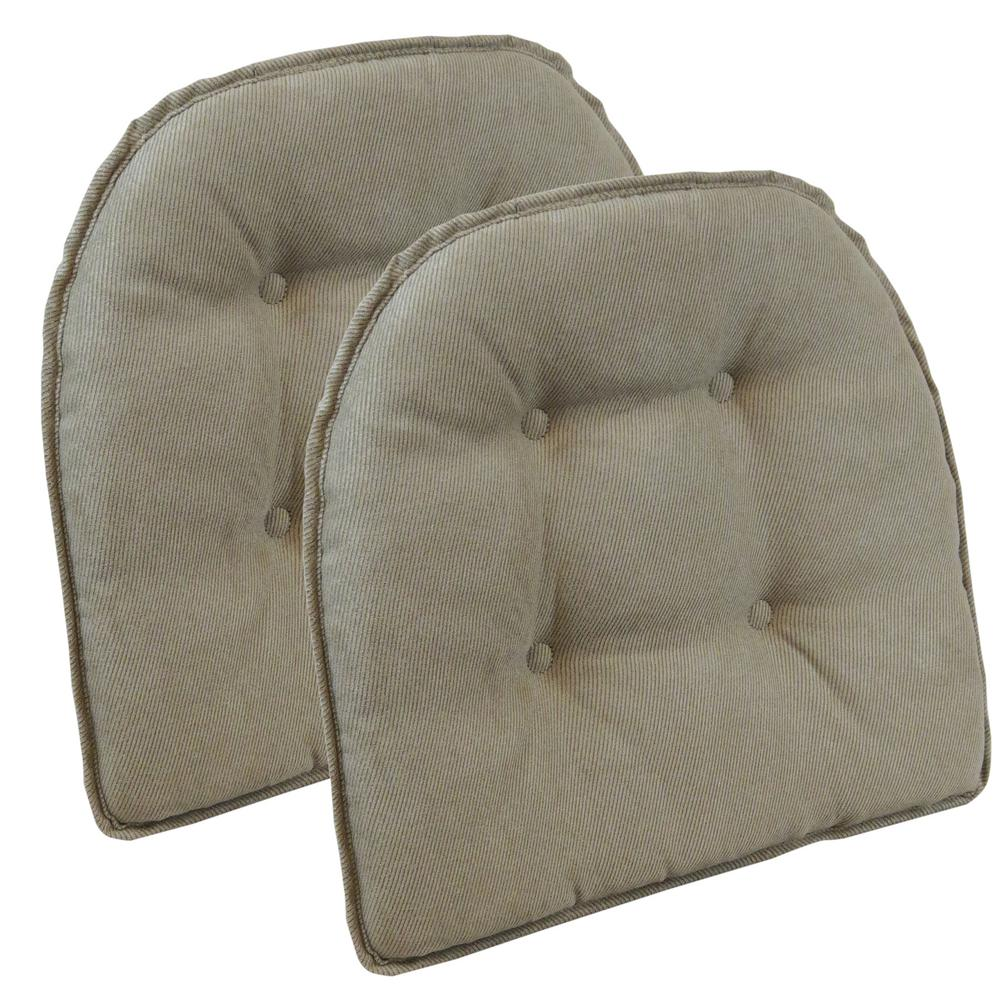 Gripper Non-Slip 15 in. x 16 in. Twillo Bronze Tufted Chair
