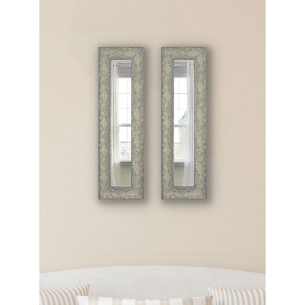 22 in. x 10 in. Maclaren Pewtere Vanity Mirror (Set of 2-Panels)