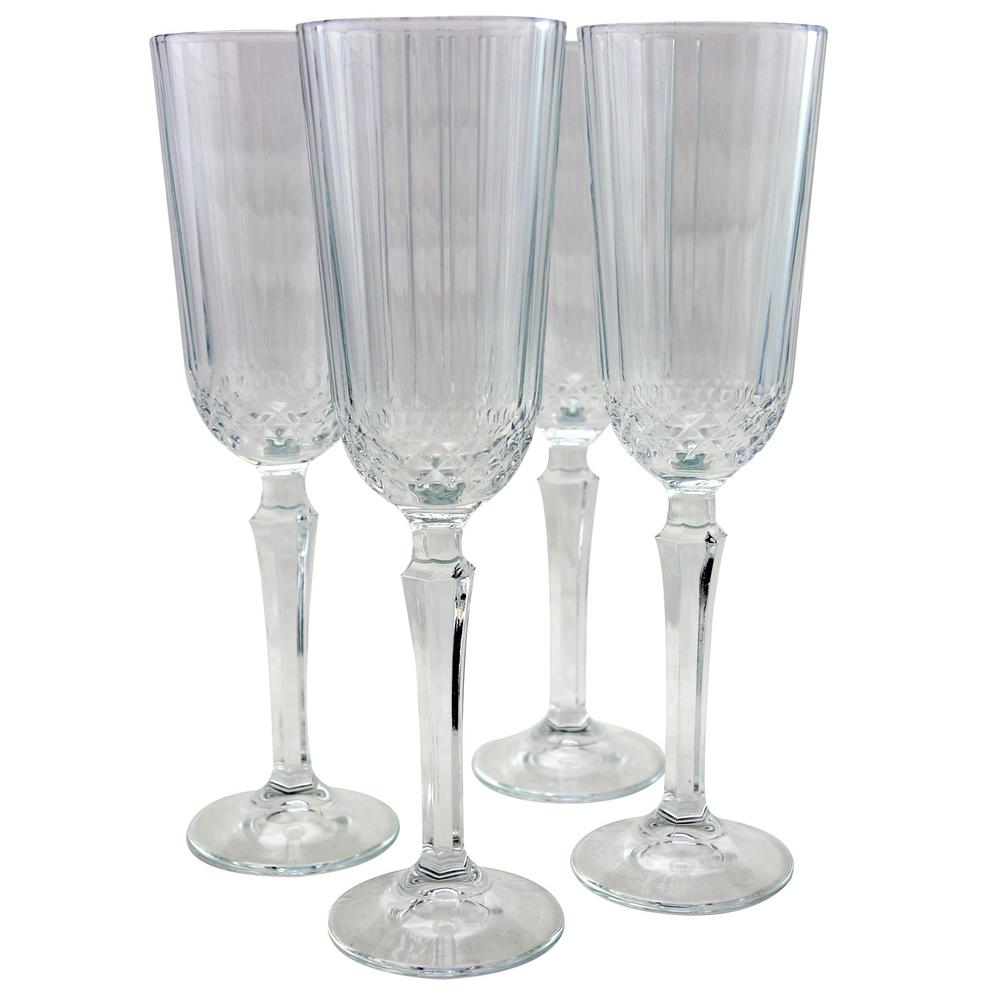 Diony 4.25 oz. Flute Glass (4-Pack)