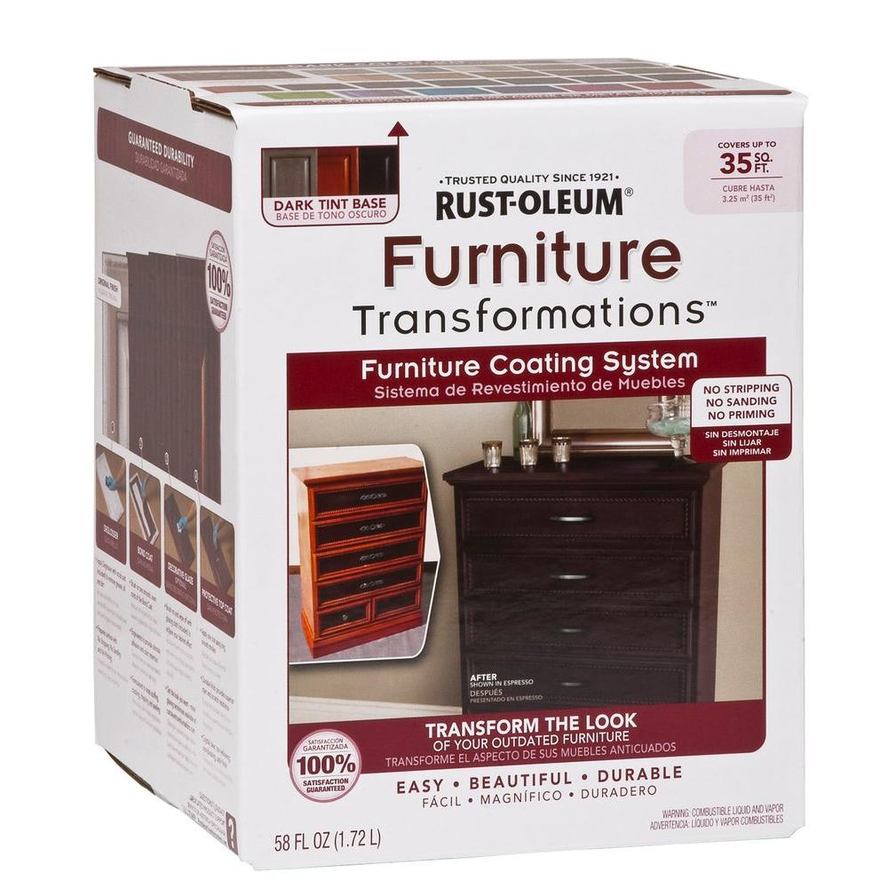 Rust Oleum Transformations 1 Qt Interior Wood Furniture Transformations Kit 348925 The Home Depot