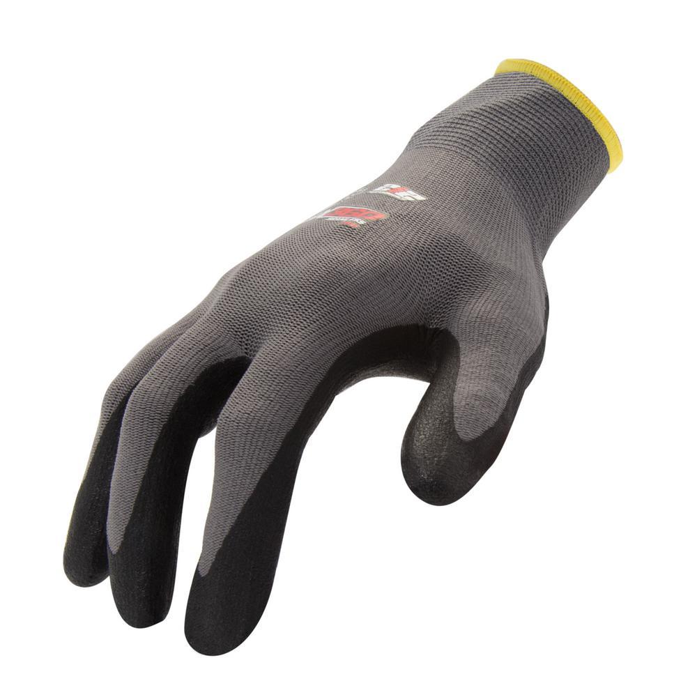 Large Foam Nitrile-Dipped Grip Glove (12-Pair/Pack)
