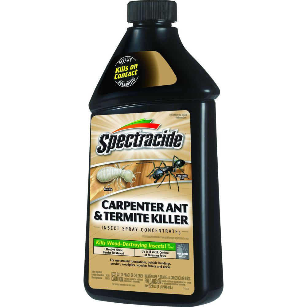 Uncategorized Spray To Kill Termites spectracide 32 fl oz concentrate carpenter ant and termite killer insect spray hg 63307 2 the home depot
