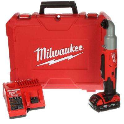 M18 18-Volt Lithium-Ion 1/4 in. Cordless 2-Speed Right Angle Impact Driver Kit