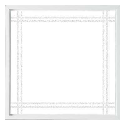 47.5 in. x 47.5 in. Prairie Decorative Glass Picture Vinyl Window - White
