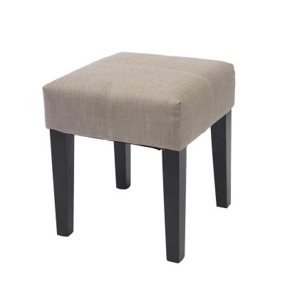 "Antonio 16"" Square Bench in Beige Fabric"