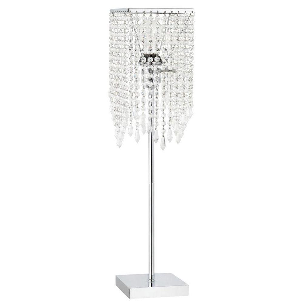 Globe Electric Crystal 26 in. Chrome Floor Lamp