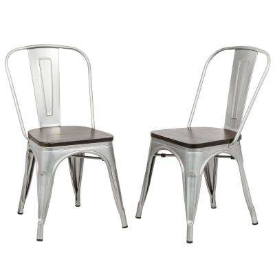 Ash Silver Wood Seat Dining Chair (Set of 2)