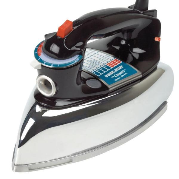 BLACK+DECKER Classic Iron with Aluminum Soleplate F67E-2