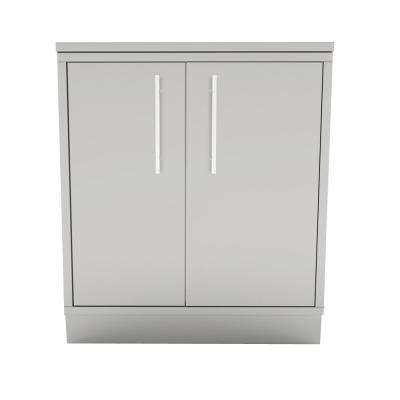 Designer Series 304 Stainless Steel 30 in. x 34.5 in. x 28.25 in. Weather Sealed Dry Storage with Drawers and Shelves