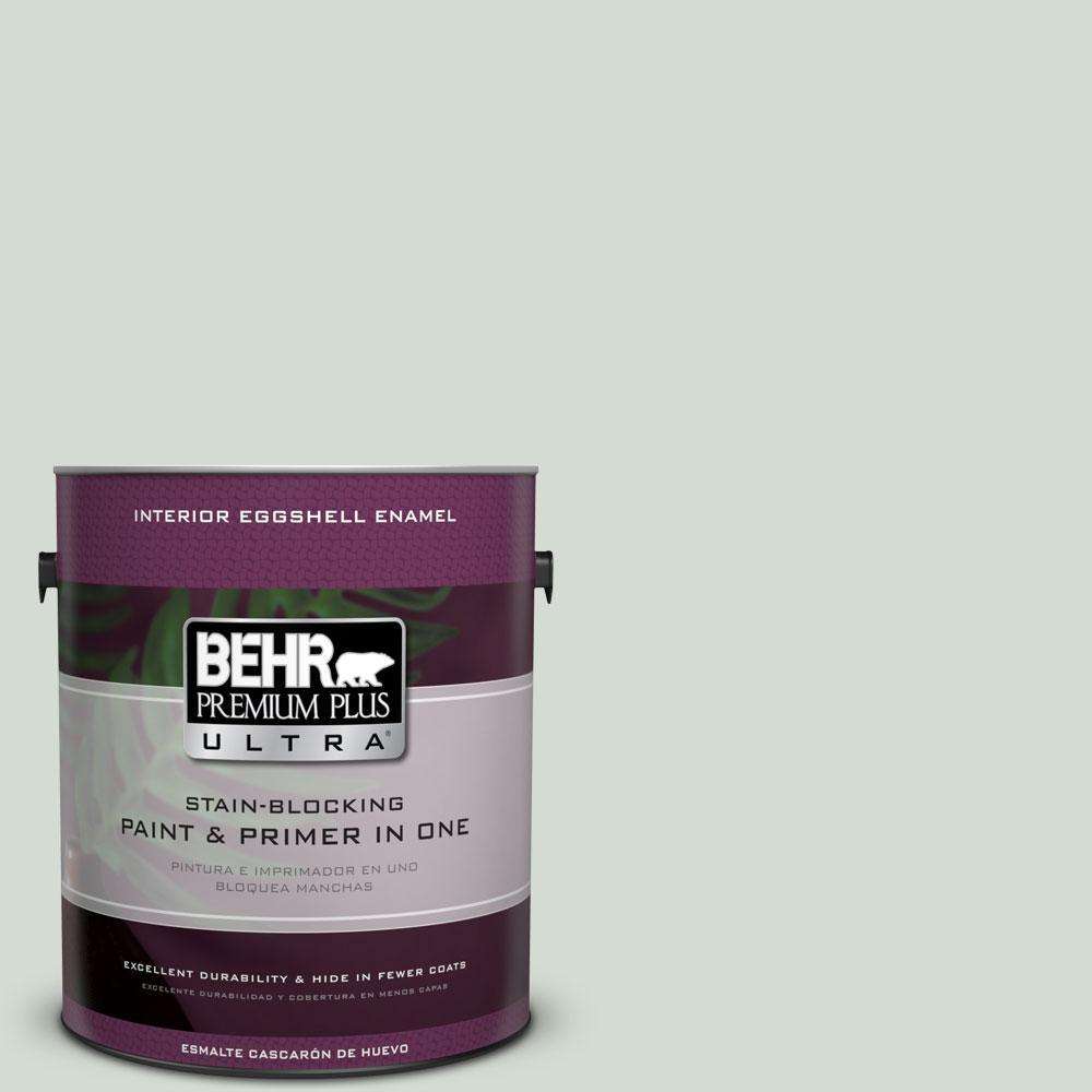 BEHR Premium Plus Ultra 1-gal. #ICC-95 Soothing Celadon Eggshell Enamel Interior Paint