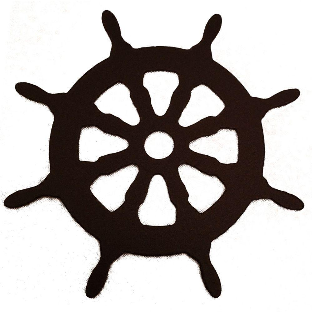 3-1/8 in. Dia Ship Wheel Decorative Black Roller Cover