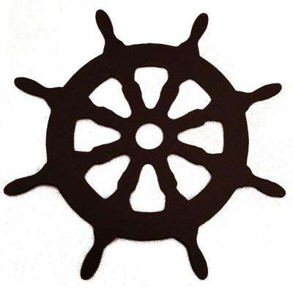 3-1/8 in. Dia Ship Wheel Decorative Black Roller Cover
