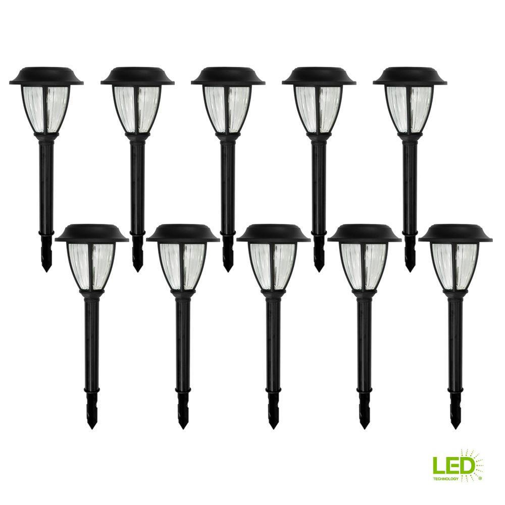 Hampton Bay Solar Charcoal Brown Outdoor Integrated LED