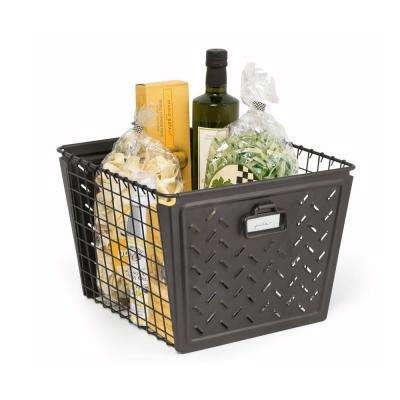 Macklin Large Metal Basket in Industrial Gray