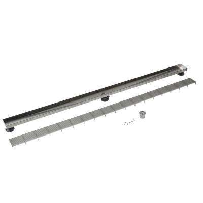 Designline 60 in. Stainless Steel Linear Drain Wedge Wire Grate