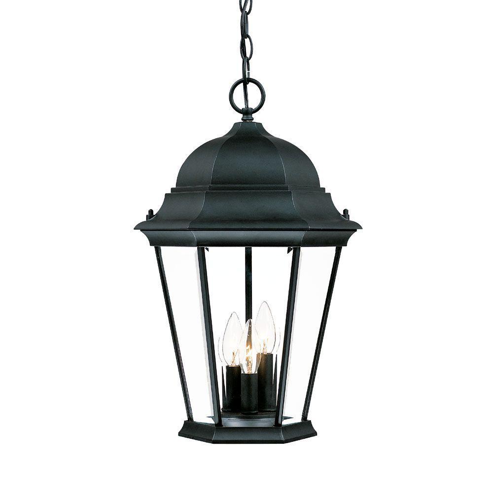 Acclaim Lighting Richmond Collection 3-Light Matte Black Outdoor Hanging Lantern