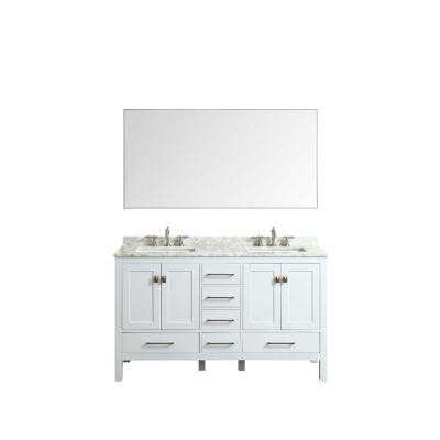 Sax 60 in. W x 30 in. H Metal Frame Wall Mounted Vanity Bathroom Mirror in Chrome