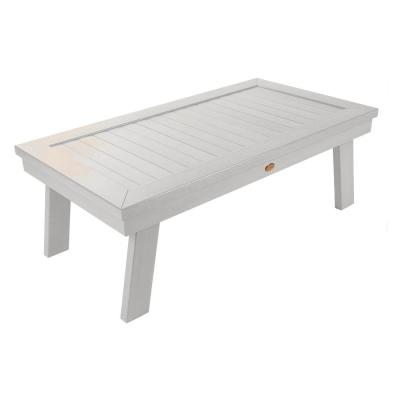 Adirondack White Rectangular Recycled Plastic Outdoor Coffee Table