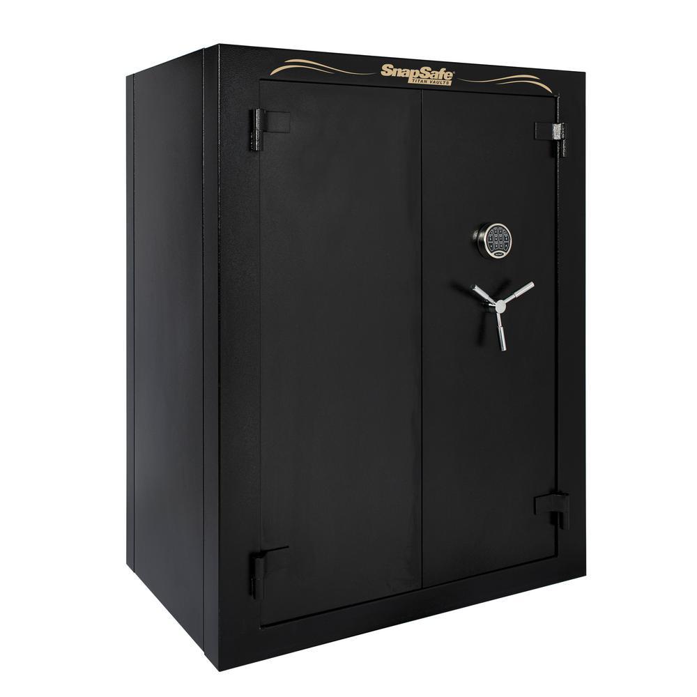 Super Titan XXL Double Door 56-Gun Fire-Resistant Modular Safe with Electronic and Mechanical Lock Black
