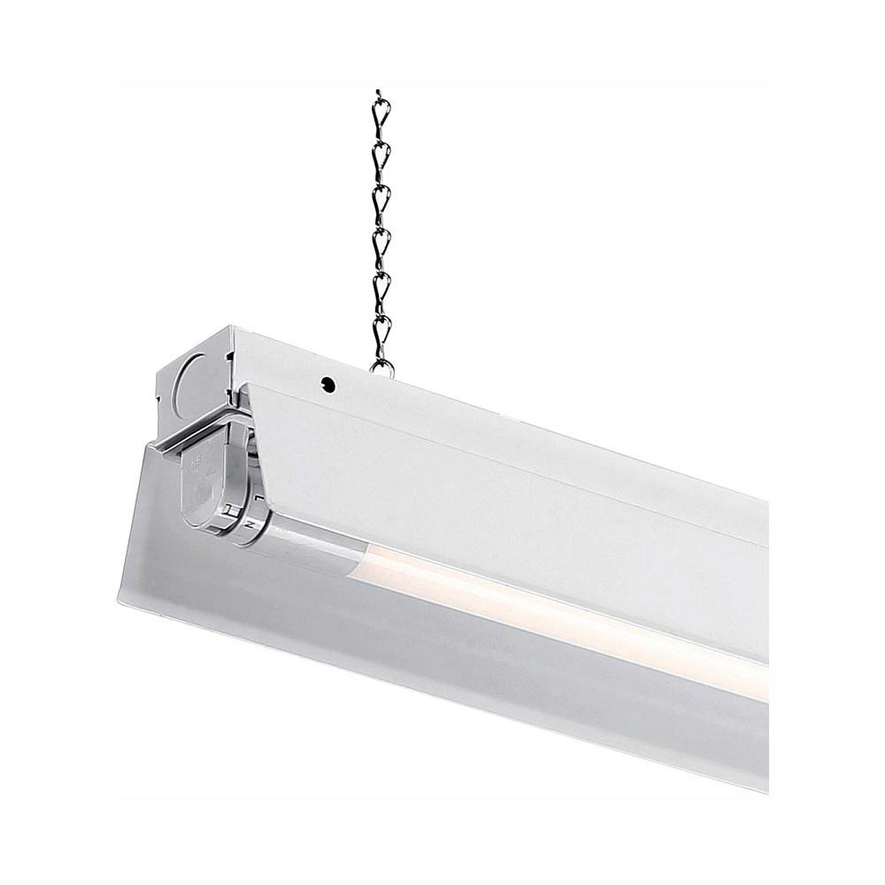 purchase cheap 74ca1 c9bc9 EnviroLite 4 ft. 1-Light White LED Shop Light with T8 LED 5000K Tubes