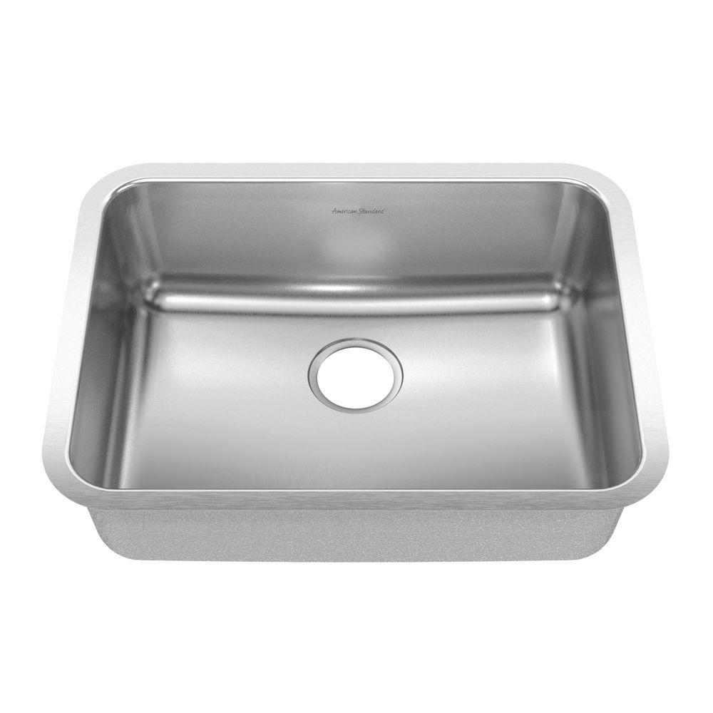 American Standard Prevoir Undermount Brushed Stainless Steel 24.75x18.75x8 Single Bowl Kitchen Sink-DISCONTINUED