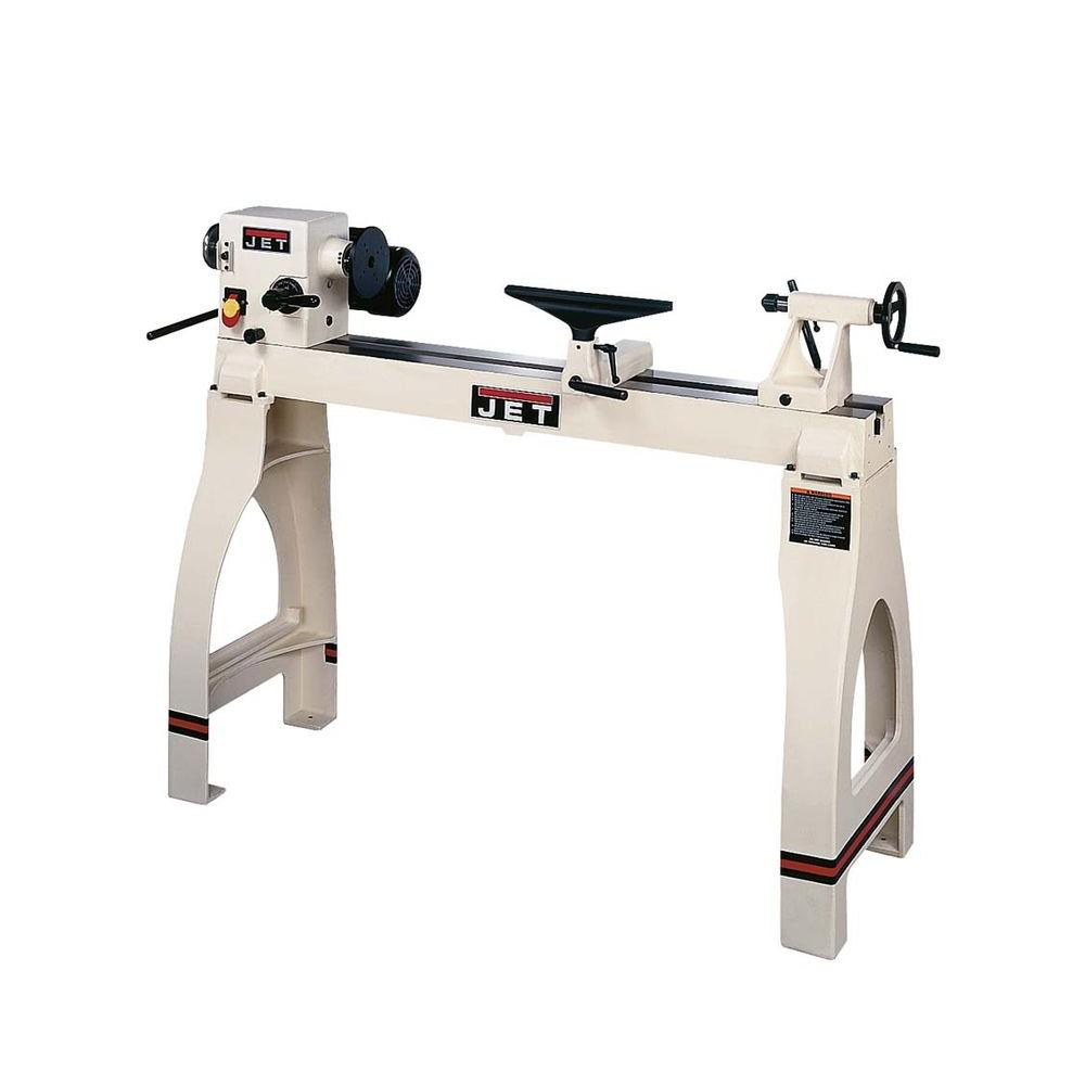JET 14 in. x 42 in. Variable Speed Woodworking Lathe with Legs