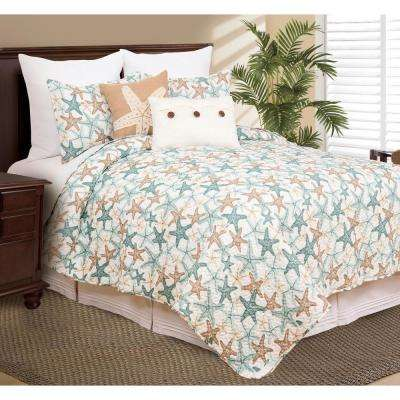 Seatopia Blue King Quilt Set